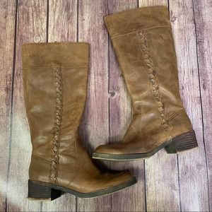 LUCKY BRAND Hatlewx Tall Leather Riding Boots 7